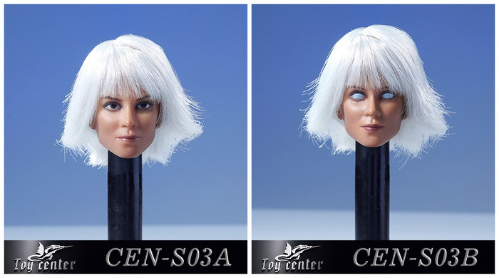 Toys Center - Female Headsculpt with White Hair