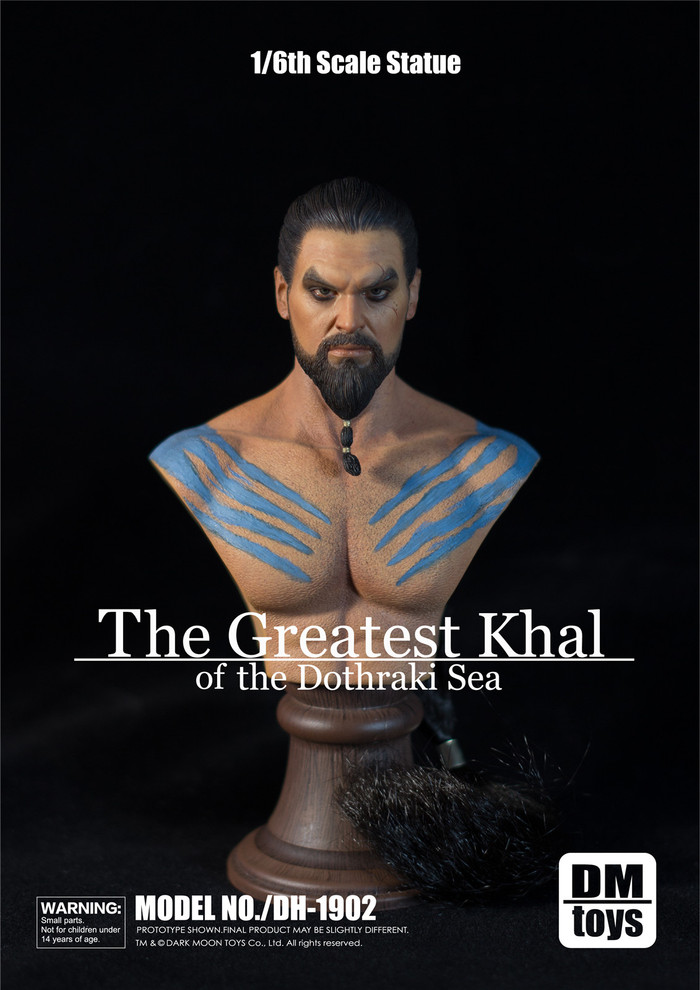 Dark Moon Toys - Khal Drogo Male Muscular Bust