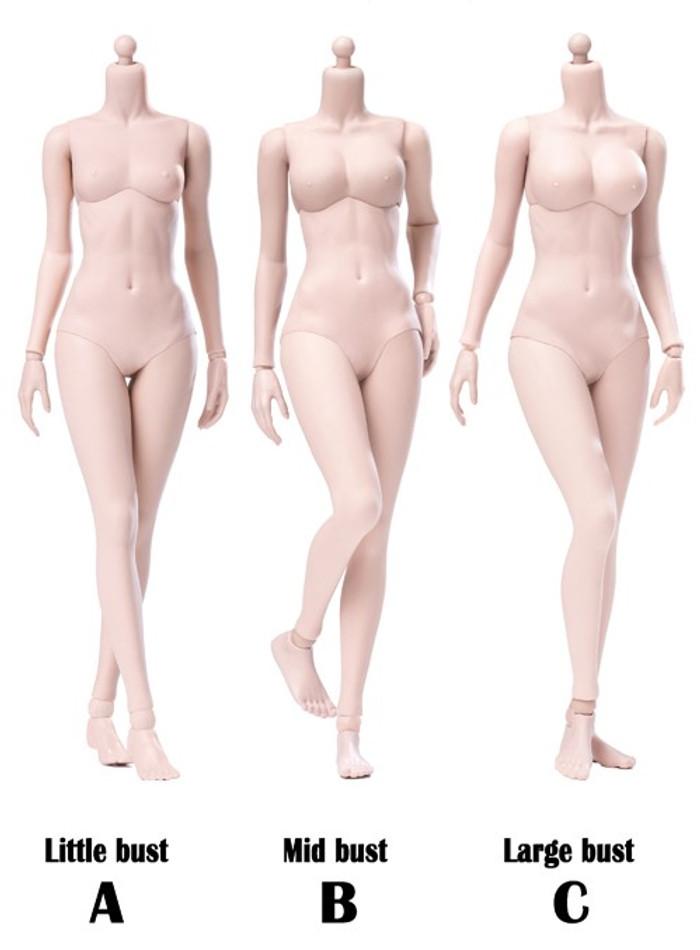 POP Toys - Super Flexible Female Body - Pale (Steel Frame)