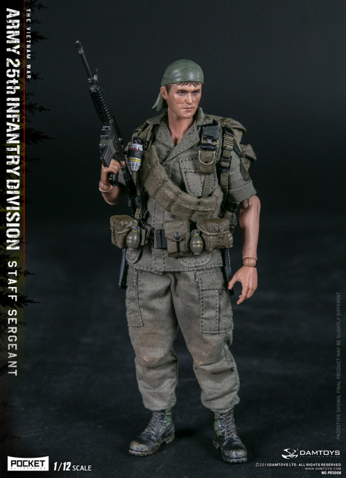 DAM Toys - 1/12 Pocket Elite Series - Army 25th Infantry Division Private Staff Sergeant PES006
