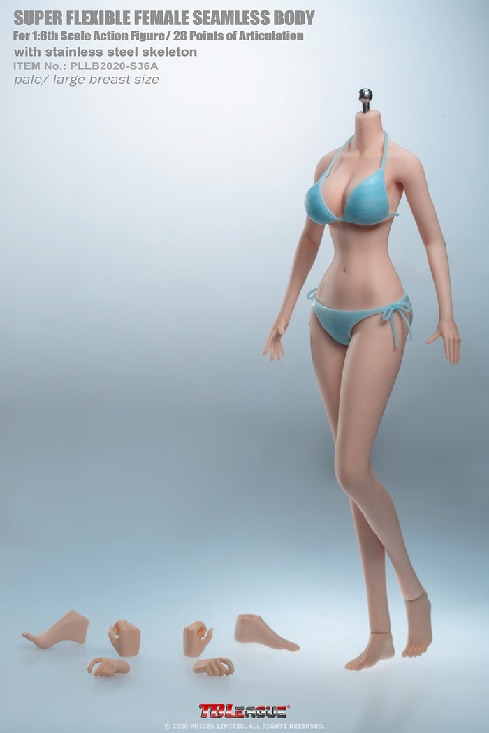 TBLeague - Anime Girl Super-Flexible Seamless Body - Large Bust Body in Pale S36A
