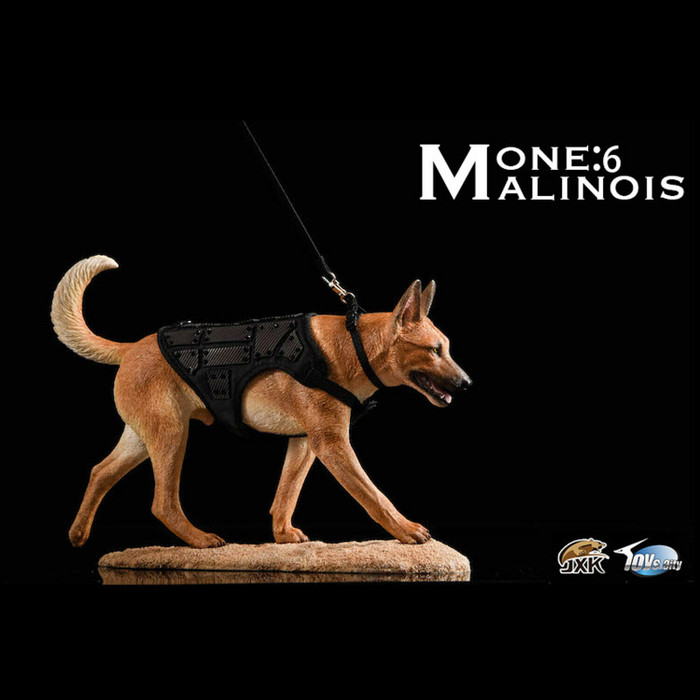 JXK - Malinois Loyal Fighting Warrior Light Color Dog -  Deluxe Edition