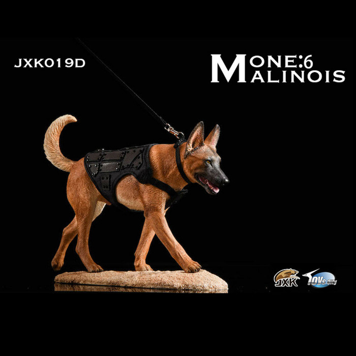 JXK - Malinois Loyal Fighting Warrior Dark Color Dog -  Deluxe Edition