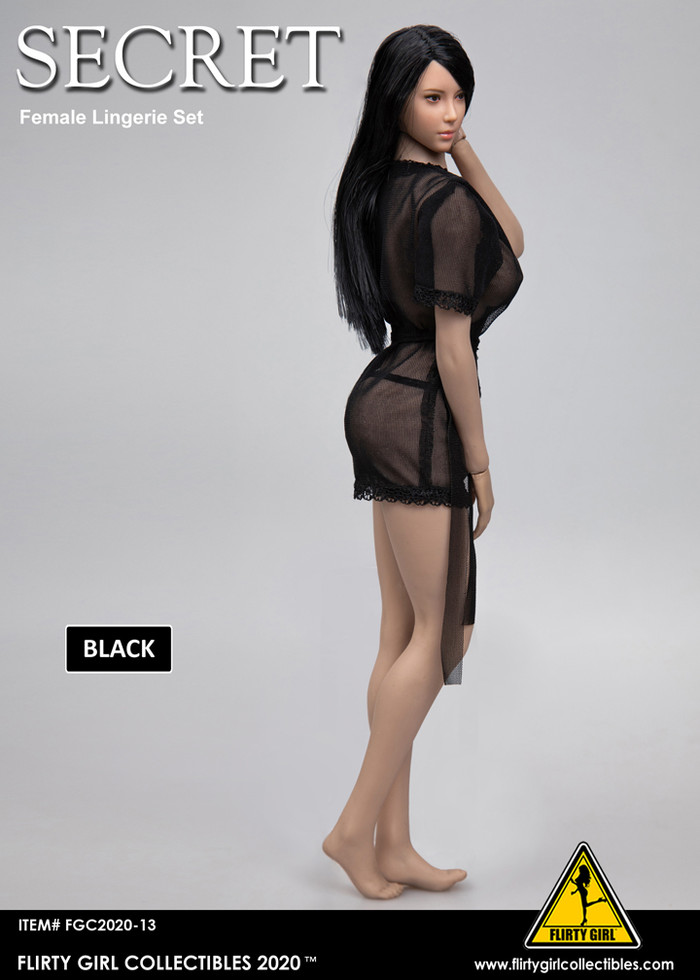 Flirty Girl - Female Sheer Robe and Panty Set