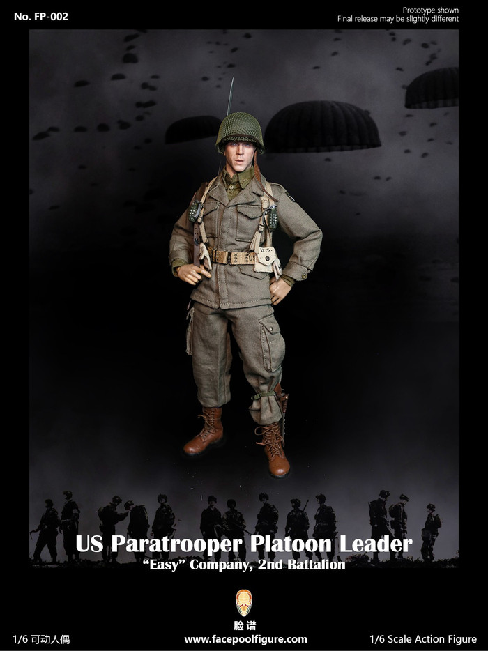 Facepoolfigure - US Paratrooper Platoon Leader Easy Company Special