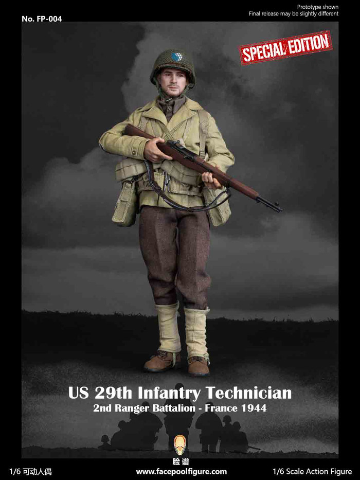 Facepoolfigure - US 29th Infantry Technician - France 1944 Special Edition