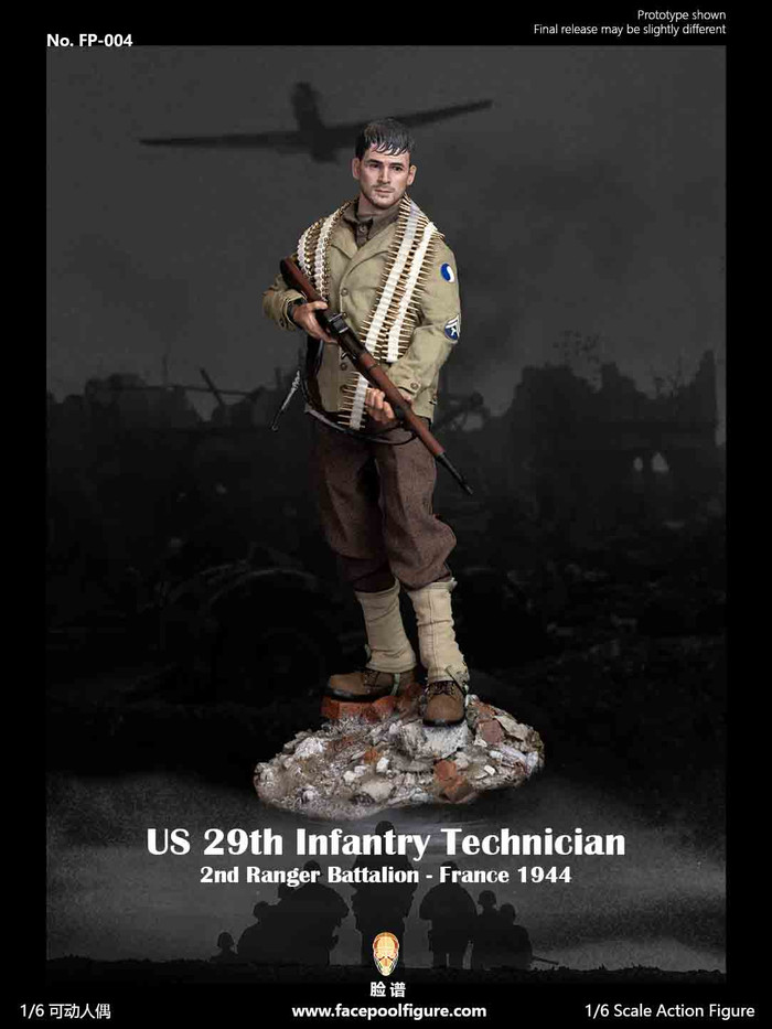 Facepoolfigure - US 29th Infantry Technician France 1944