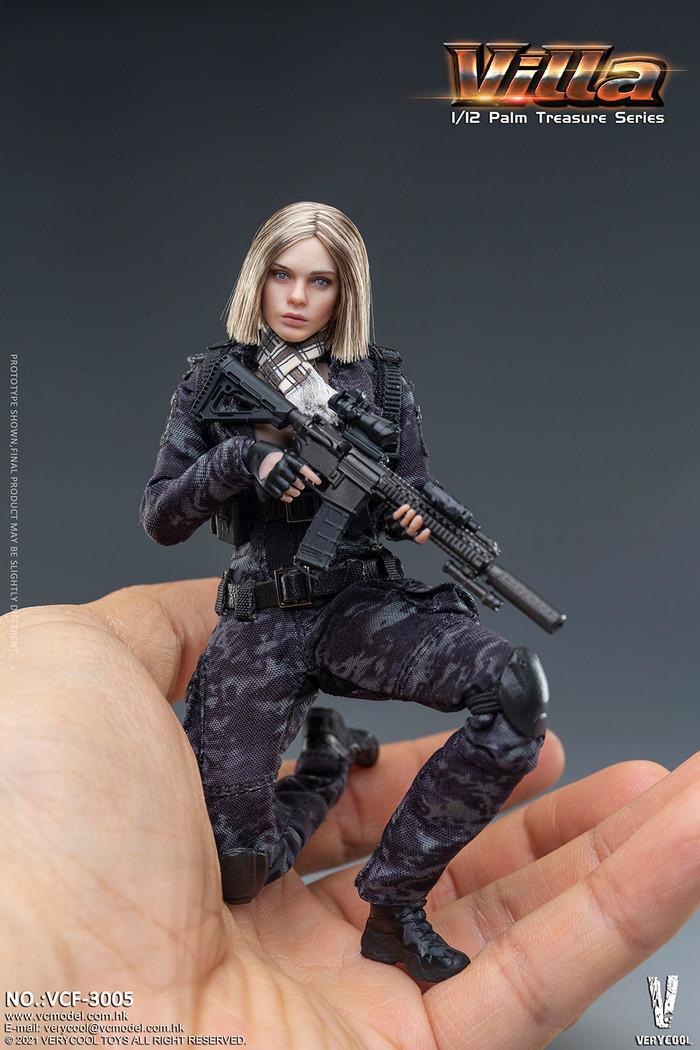 Very Cool - 1/12 Palm Treasure Series - Black MC Camouflage Women Soldier - Villa