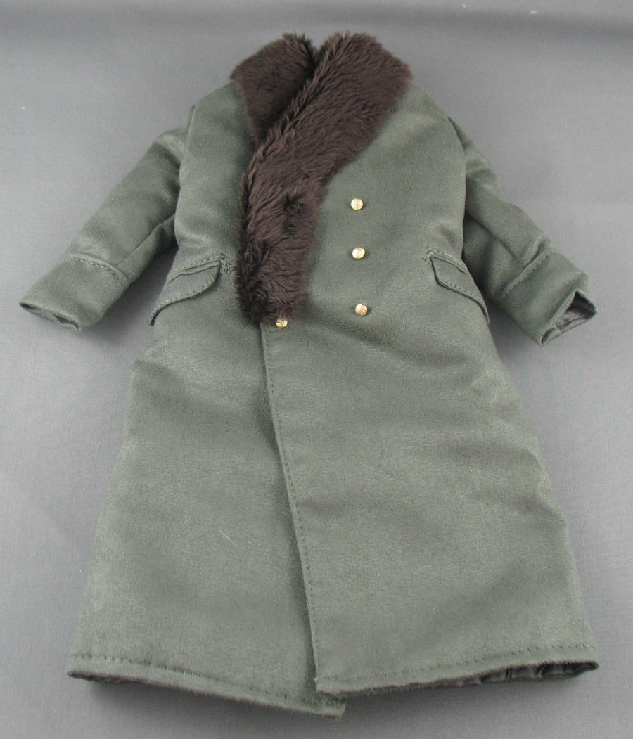 3R - Great Jacket - Olive with Fur Collar