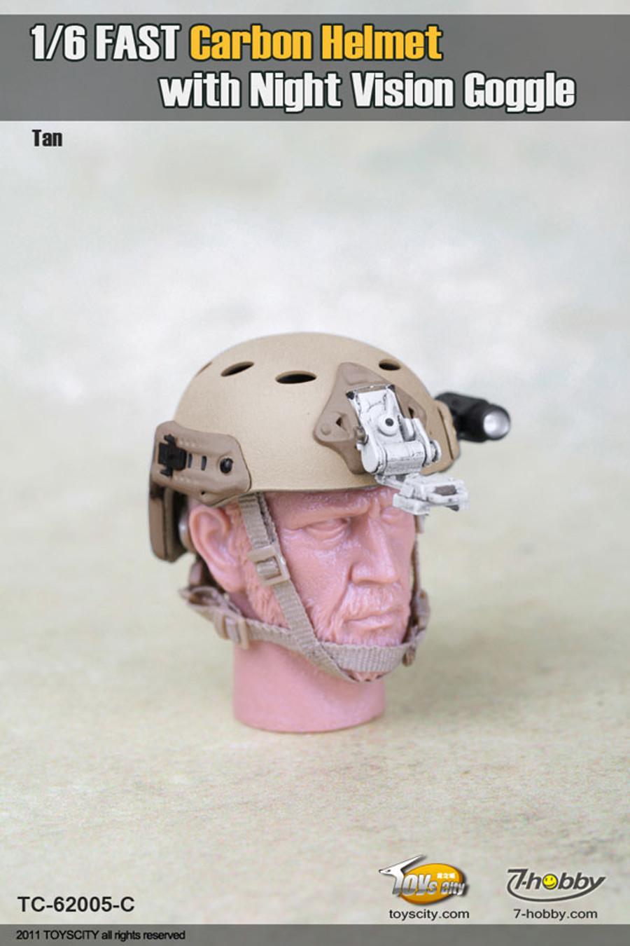 Toys City - Fast Carbon Helmet - Tan