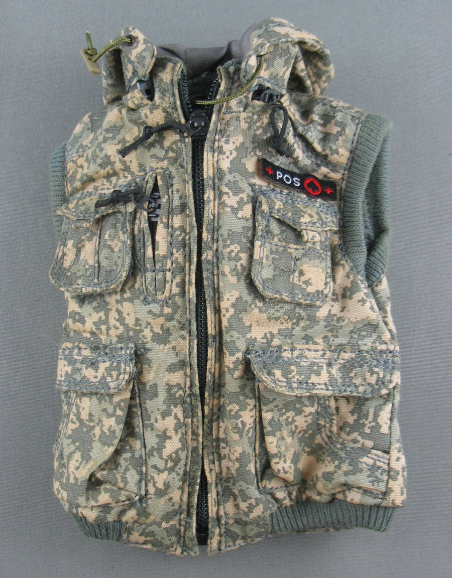 DAM - Vest - Hooded & Patched - ACU Universal Camo