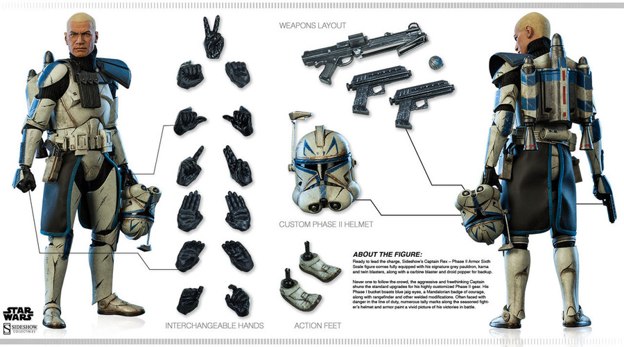 Sideshow - Star Wars - Captain Rex - Phase II Armor