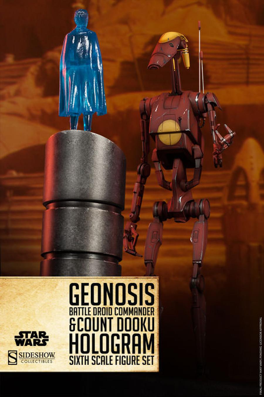 Sideshow - Star Wars - Geonosis Commander Battle Droid & Dooku Hologram