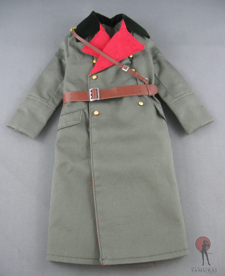 3R - German Greatcoat - /w Sash - Green
