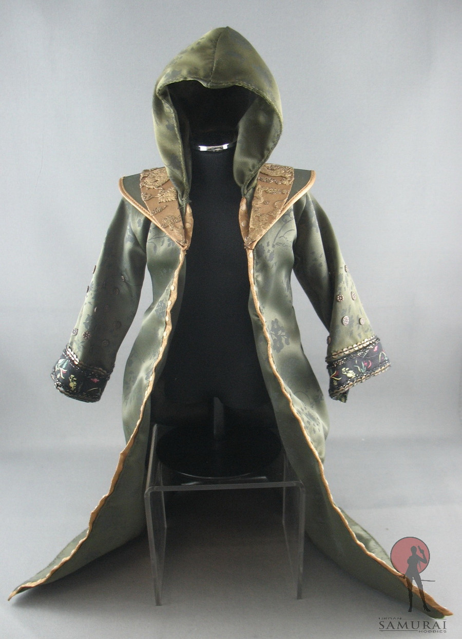 Hot Toys - Robe - Embroidered - Dark Green - /w Hood