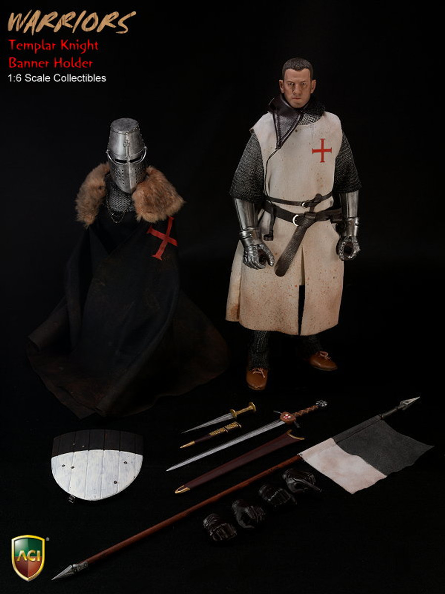 ACI Toys 1/6 Crusader Knight Templars - Templar Knight Banner Holder