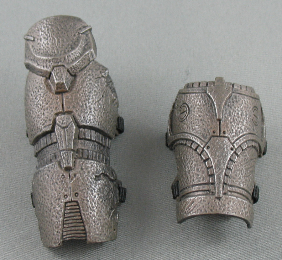 The shorter piece can be used on the right or the left leg. It was made shorter to accomodate a knee pad on one knee.