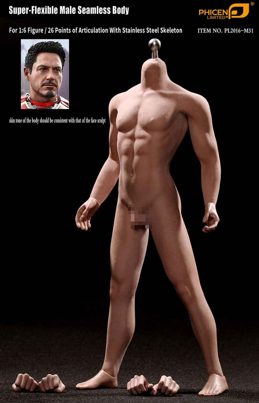Phicen - Super-Flexible Male Seamless Body - Tall M31
