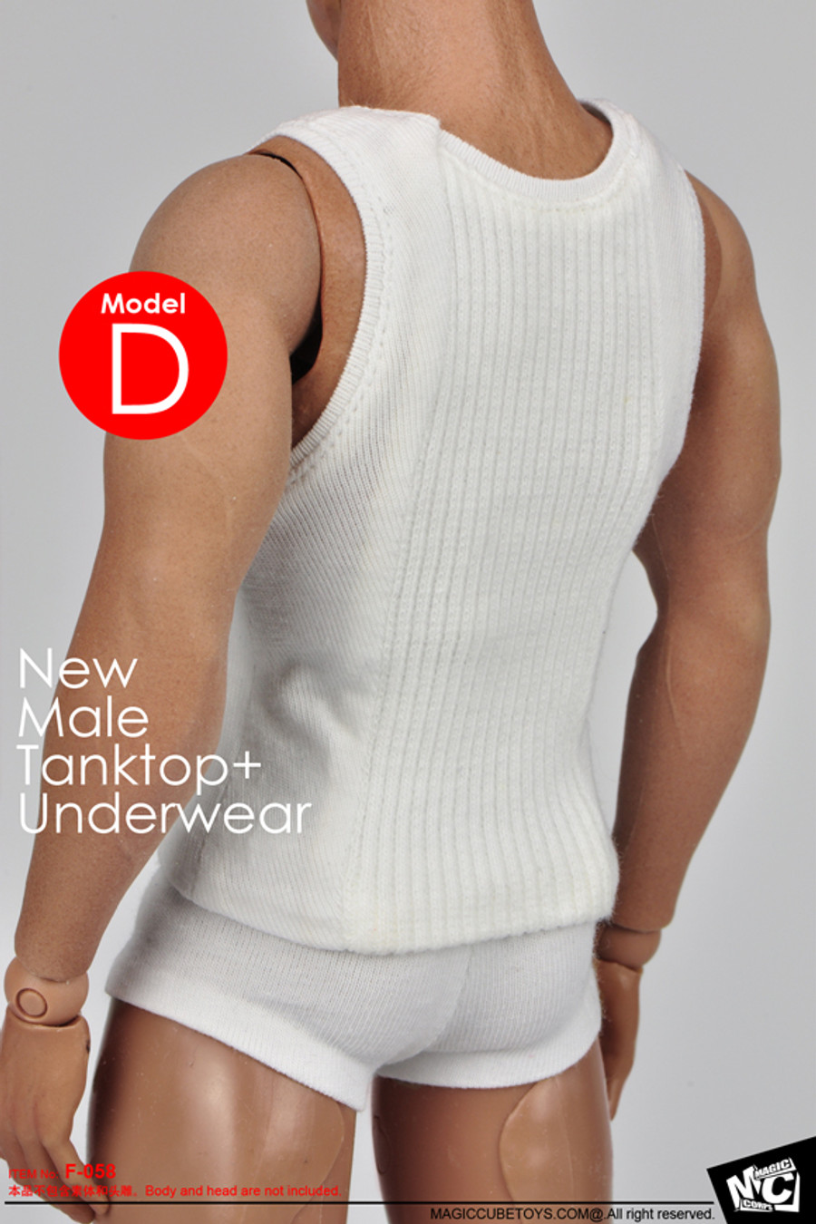 MC Toys - Male Tanktop and Underwear - White Cotton