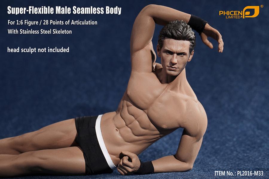 Phicen - Super Flexible Male Seamless Body - Suntan - M33