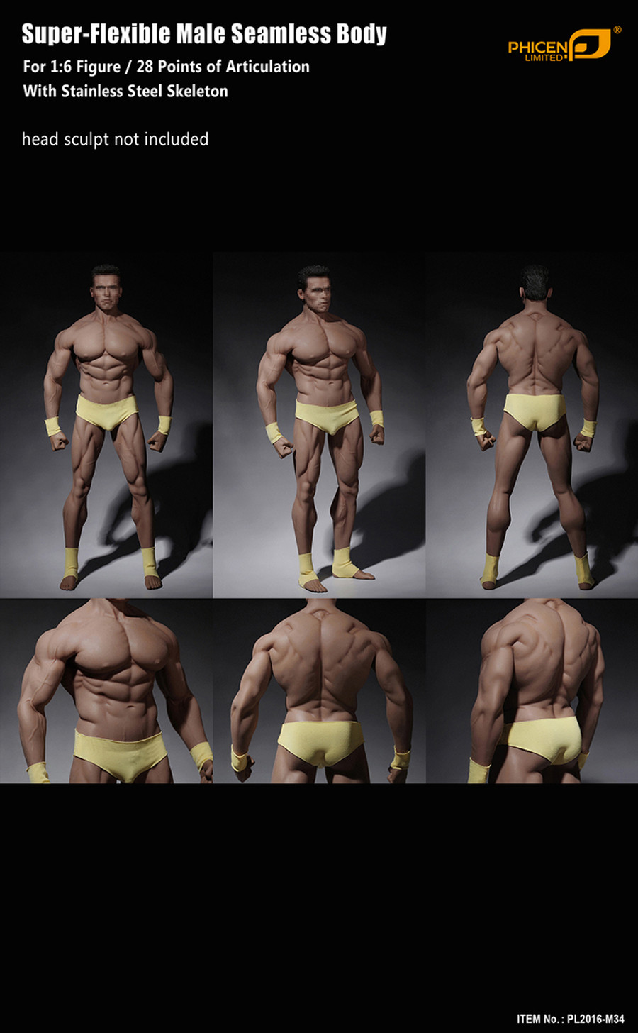 Phicen - Super Flexible Male Seamless Body