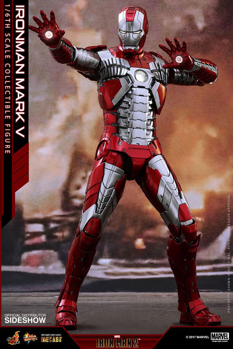 Hot Toys - Iron Man 2 -  Iron Man Mark V Diecast Movie Masterpiece
