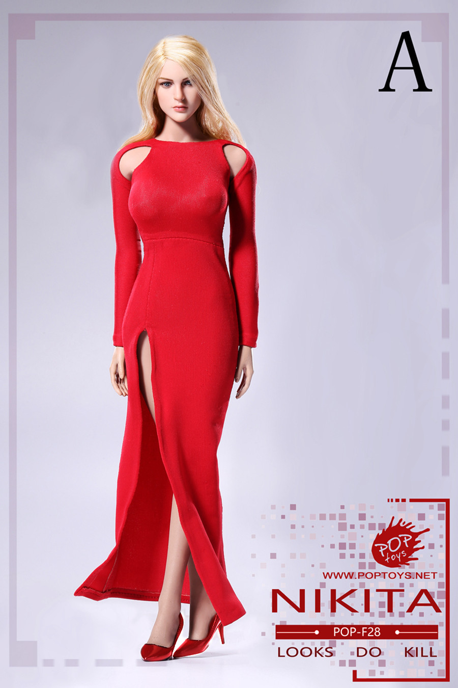 Pop Toys - Bare-Shouldered Evening Dress