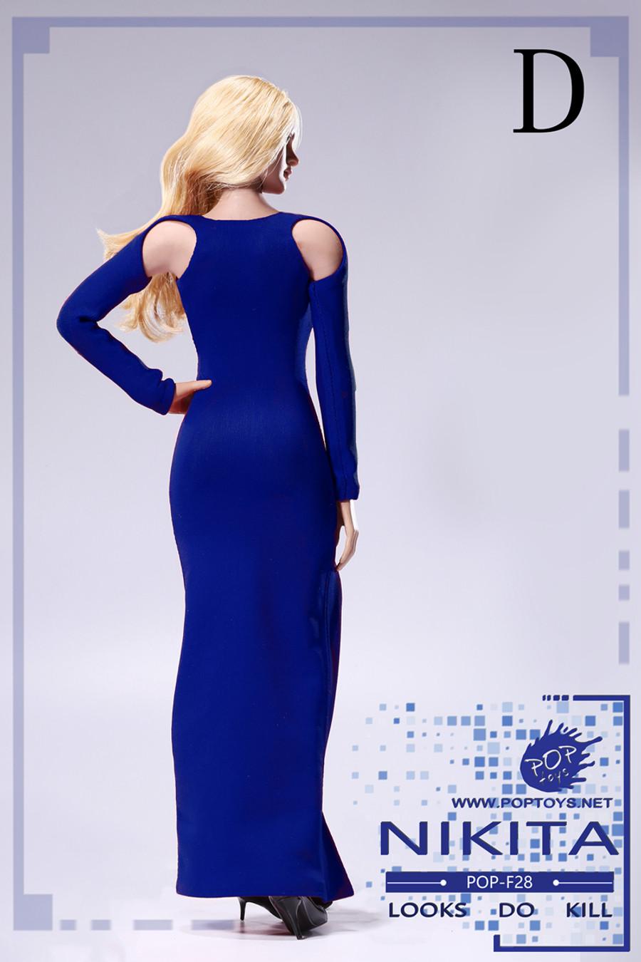 Pop Toys - Bare-Shouldered Evening Dress