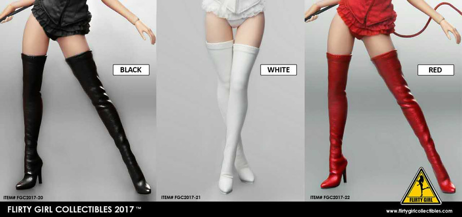 Flirty Girl - High Boots - White