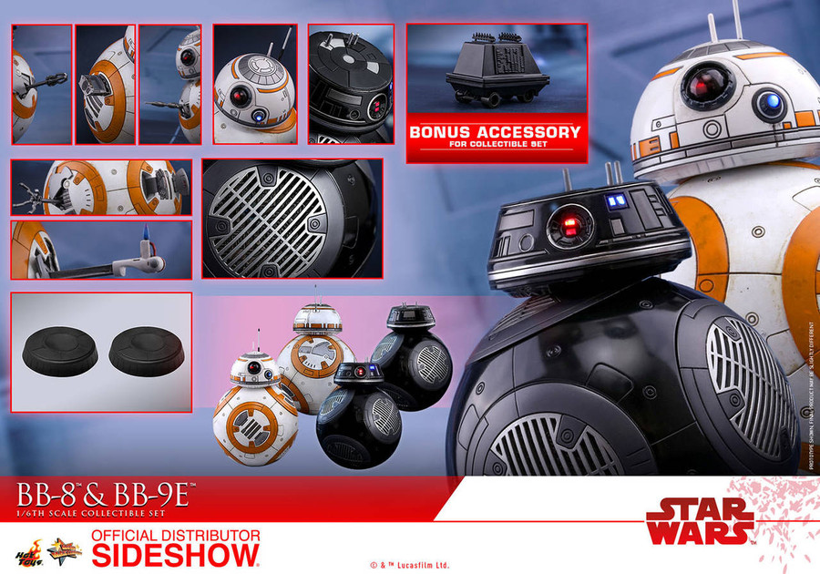 Hot Toys - Star Wars: The Last Jedi - Movie Masterpiece Series - BB-8 and BB-9E
