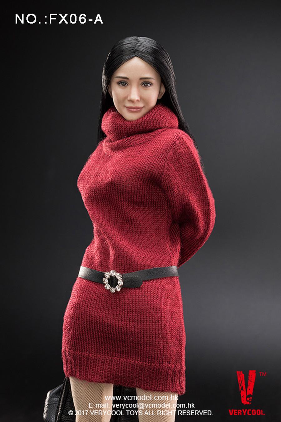 Very Cool - Asian Actress Black Straight Hair Headsculpt + VC 3.0 Female Body Set