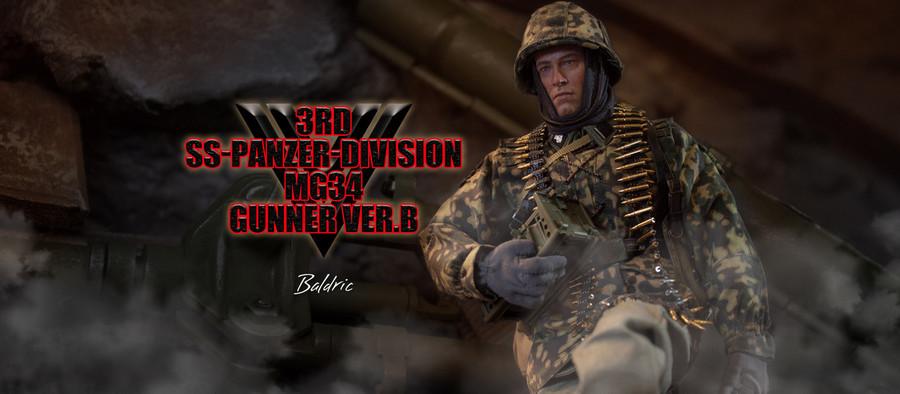 DID - 3rd SS-Panzer-Division MG34 Gunner Version B - Baldric