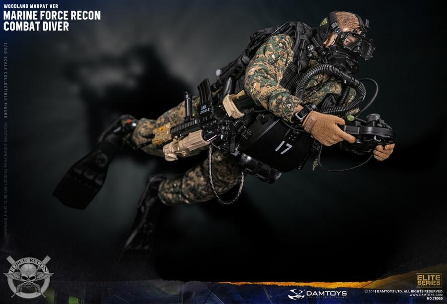 Dam Toys - Marine Force Recon Combat Diver - Woodland Marpat Version