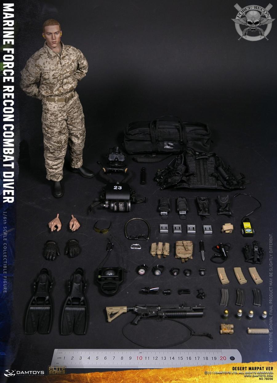 Dam Toys - Marine Force Recon Combat Diver - Desert Marpat Version