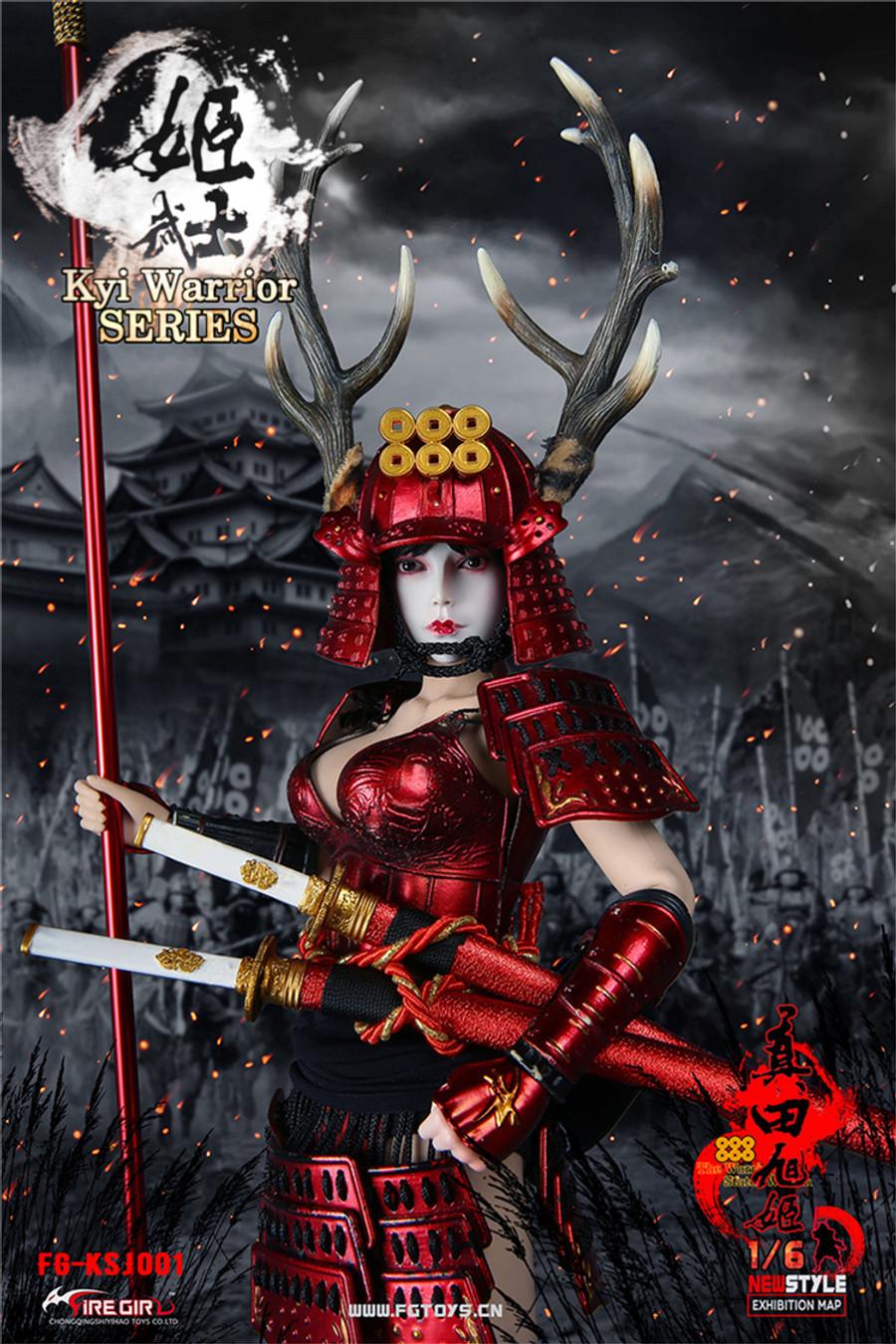 Fire Girl Toys - Warring States of Japanese Women: Warrior Suit Sanada Xu Kyi - Red
