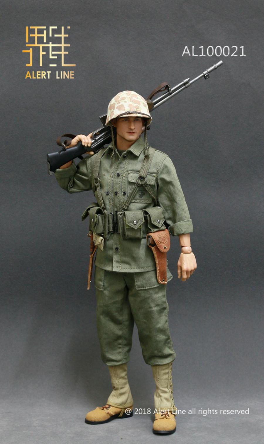 Alert Line - WWII US Marine Corps Browning Automatic Rifle BAR Gunner Set
