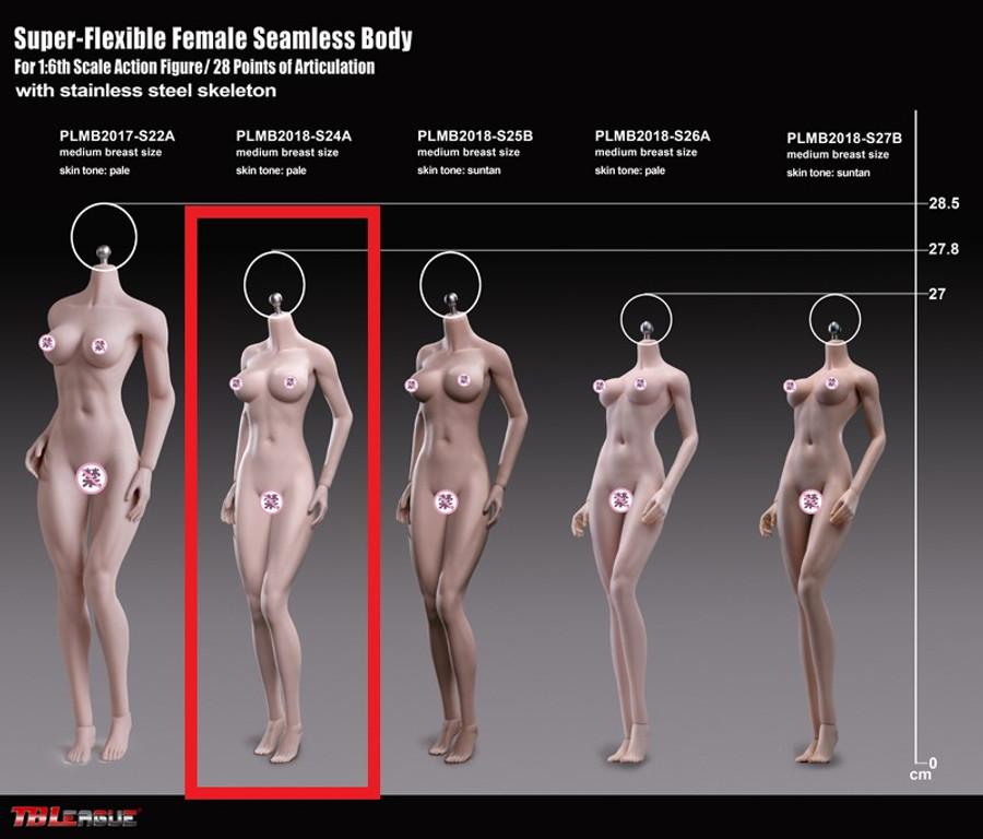 TBLeague - Super-Flexible Female Seamless Body - S24A 278mm Pale
