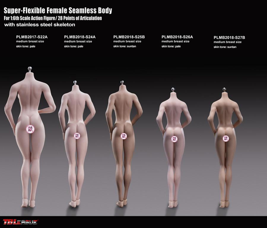 TBLeague - Super-Flexible Female Seamless Body - S26A 270mm Pale