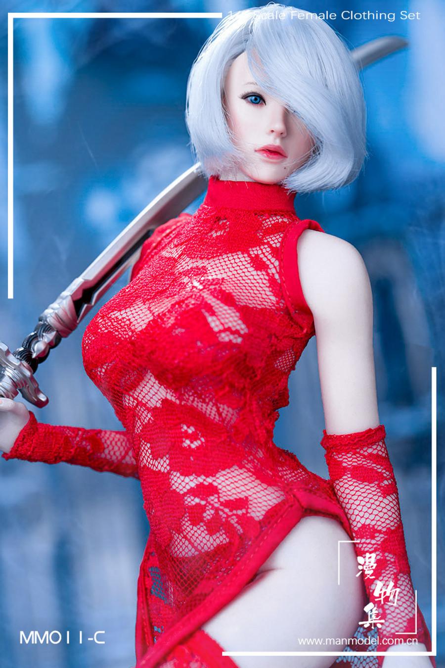 Manmodel - Miss 2B's Lace Cheongsam Set