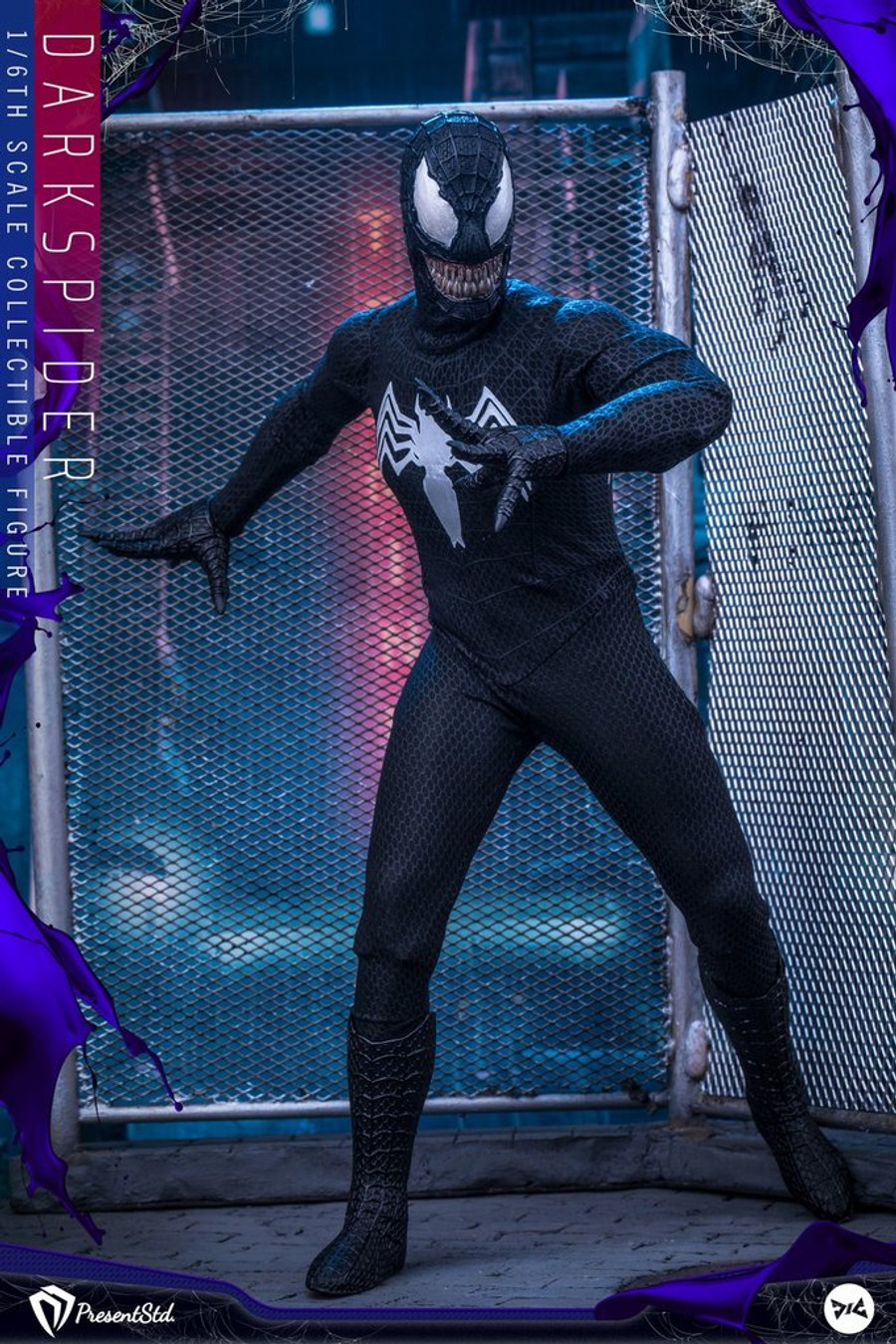 Present Studio X DJ Custom - Dark Spider Figure - Standard Version