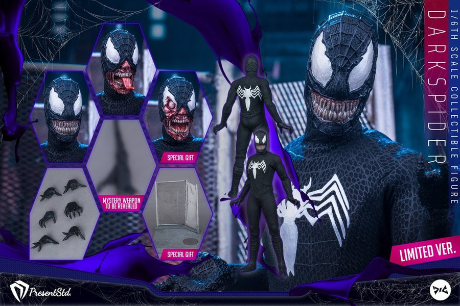 Present Studio X DJ Custom - Dark Spider Figure - Exclusive Version