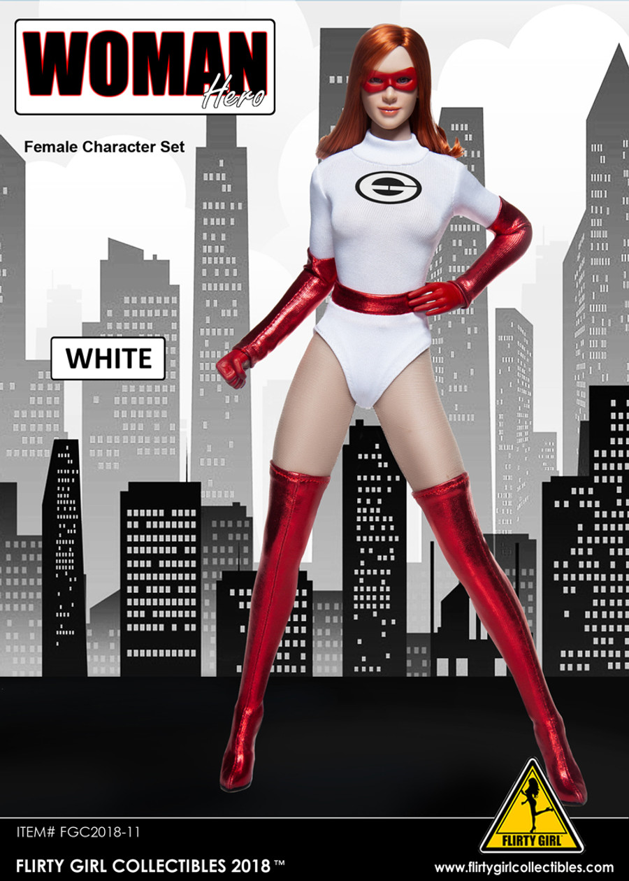 Flirty Girl - Woman Hero Female Character Set