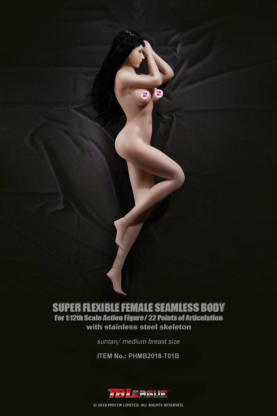 TBLeague - 1/12 Scale: Super-Flexible Female Seamless Medium Bust Suntan Body