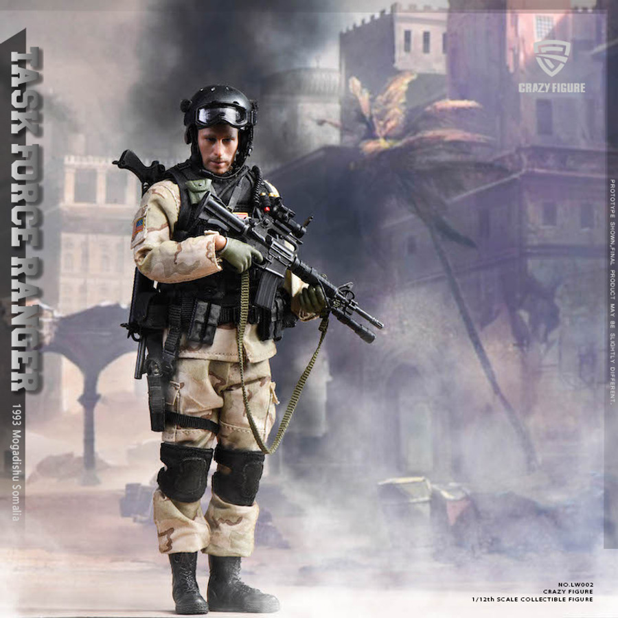 Crazy Figure - 1/12 US Military Special Force: ASOC Army Special Operations Command in 1993