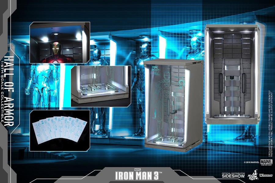 Hot Toys - Diorama Series - Iron Man 3: Hall of Armor Single