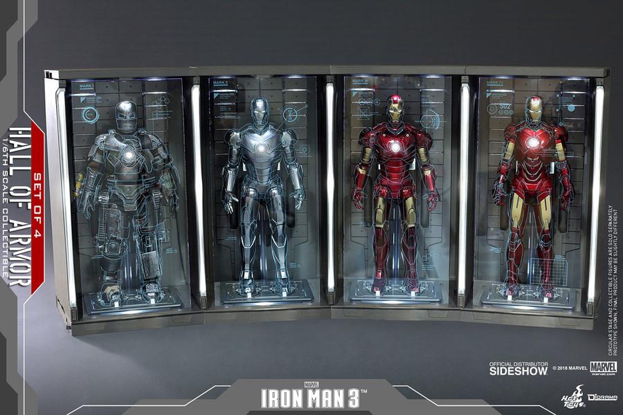 Hot Toys - Diorama Series - Iron Man 3: Hall of Armor Set of 4