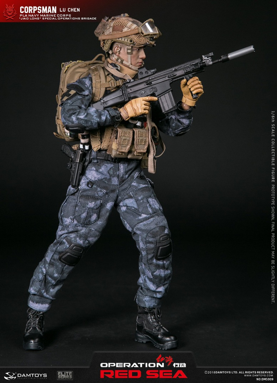 "DAM Toys - PLA Navy Marine Corps ""Jiao Long"" Special Operations Brigade Operator Corpsman - Lu Chen"