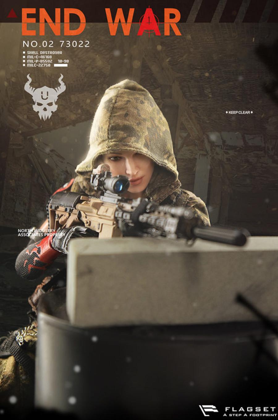 "Flagset - Doomsday War Series: End War Death Squad ""U"" Umir and Dog Suit"