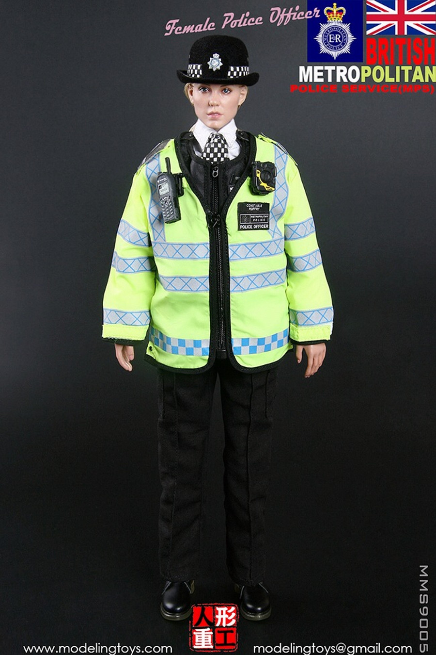 Modeling Toys - Military Series: British Metropolitan Police Service - Female Police Officer