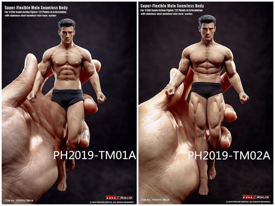 TBLeague - 1/12 Super Flexible Male Seamless Body - TM02A